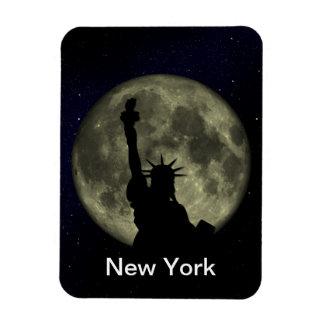 the statue of liberty rectangular photo magnet