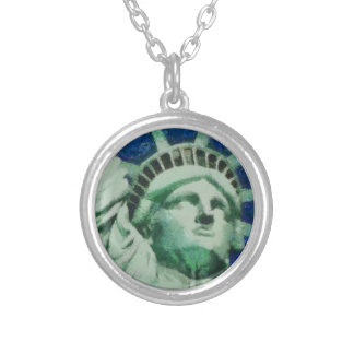 The Statue of Liberty Round Pendant Necklace