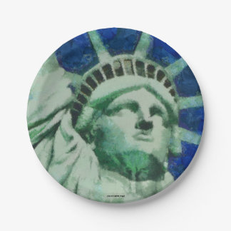 The Statue of Liberty 7 Inch Paper Plate