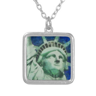 The Statue of Liberty Square Pendant Necklace