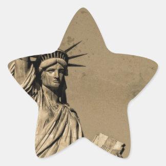 The Statue Of Liberty Star Sticker