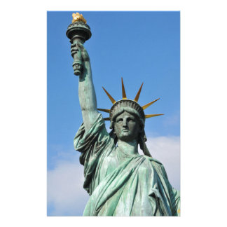 The statue of liberty stationery