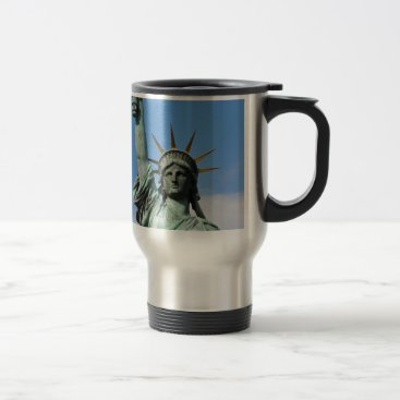 USA Themed The statue of liberty travel mug