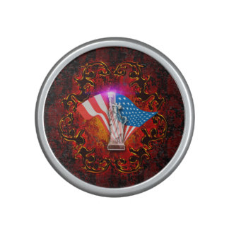 The Statue of Liberty with decorative floral elmen Speaker