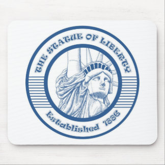 THE STATUE OF THE LIBERTY BLUE MOUSE PAD