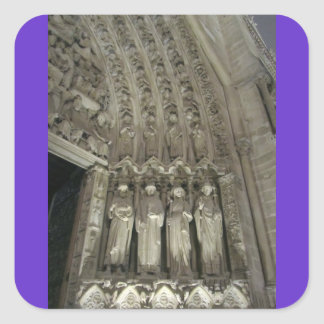 The Statutes of Notre Dame Square Sticker