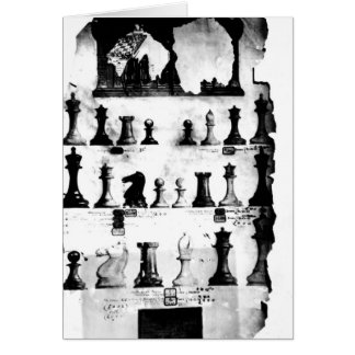 The Staunton Chessmen Patent Drawing Greeting Card