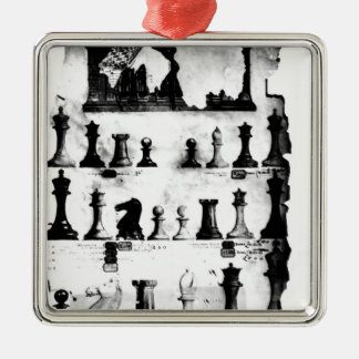 The Staunton Chessmen Patent Drawing Metal Ornament
