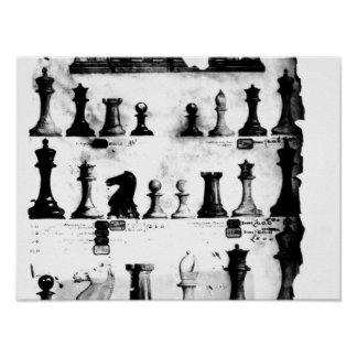 The Staunton Chessmen Patent Drawing Poster