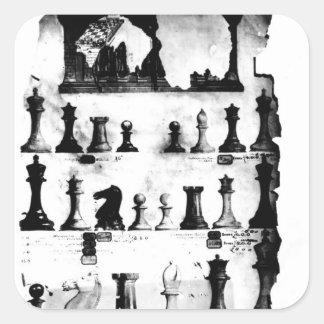 The Staunton Chessmen Patent Drawing Square Sticker