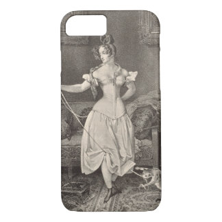 The Stay-lace, engraved by Alfred Leon Lemercier ( iPhone 8/7 Case