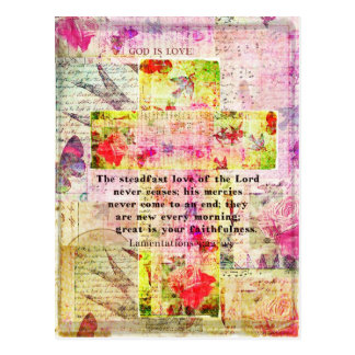 The steadfast love of the Lord never ceases Postcard
