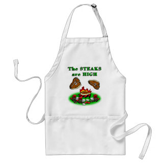 The Steaks Are High Adult Apron