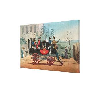 The Steam Coach Canvas Print