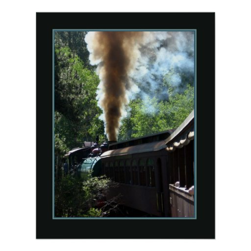 The Steam Locomotive Photo Poster