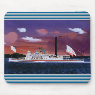 The Steamship Syracuse by James Bard Mouse Pad