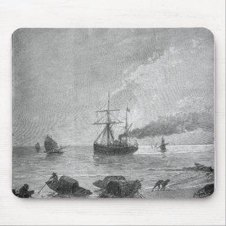 The steamship Vladivostok on the Yangtze River Mouse Pad