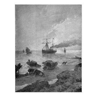 The steamship Vladivostok on the Yangtze River Postcard