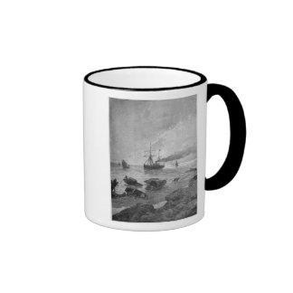 The steamship Vladivostok on the Yangtze River Ringer Mug