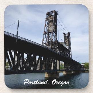 The Steel Bridge Portland, Oregon Beverage Coaster