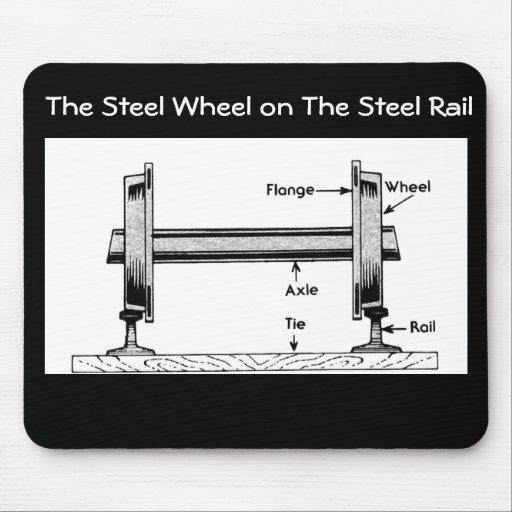 The Steel  Railway Wheel on The Steel Rail Mouse Pad