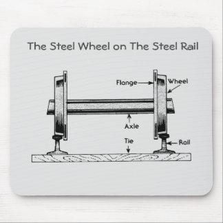 The Steel Railway Wheel on The Steel Rail Mousepad