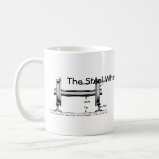 The Steel Wheel on The Steel Rail Coffee Mug