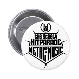 The steely Hitparade of Metal Music 2 (black) Pins