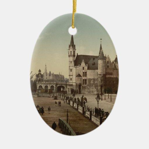 The Steen, Antwerp, Belgium Christmas Tree Ornaments