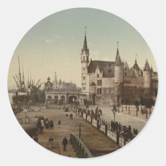 The Steen Antwerp Belgium Round Stickers
