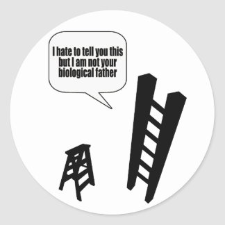 The Step Stool Classic Round Sticker