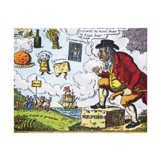 The Stepping Stone,John Bull peeping into Gallery Wrap Canvas