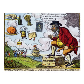 The Stepping Stone,John Bull peeping into Postcard