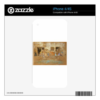 The Steps by James McNeill Whistler Decal For iPhone 4