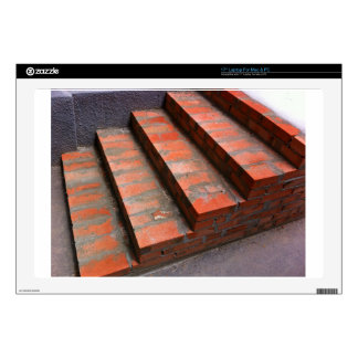 """The steps of a new red brick staircase decals for 17"""" laptops"""