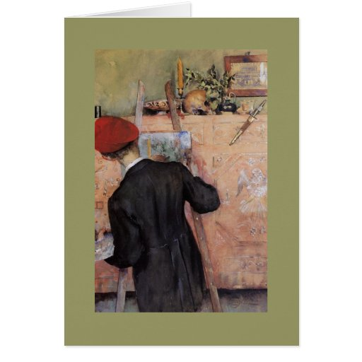 The Still Life Painter 1896 Greeting Card
