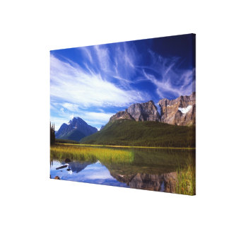 The still waters of Waterfowl Lake make a Canvas Print
