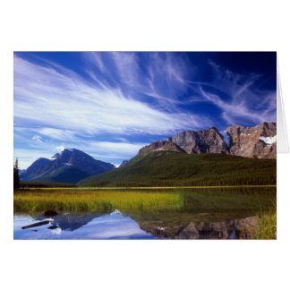 The still waters of Waterfowl Lake make a Card