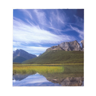 The still waters of Waterfowl Lake make a Notepad