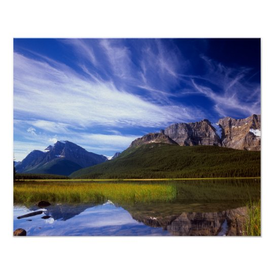 The still waters of Waterfowl Lake make a Poster
