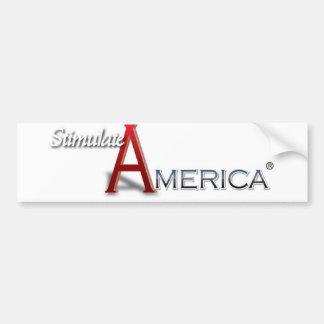 The Stimulate America Bumper Sticker Car Bumper Sticker