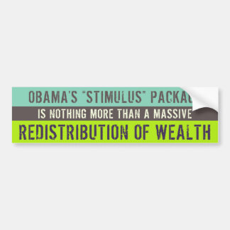 The Stimulus Package Scam Bumper Sticker