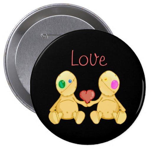 The Stitches Love 4 Inch Round Button