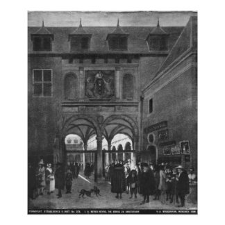 The Stock exchange in Amsterdam Posters