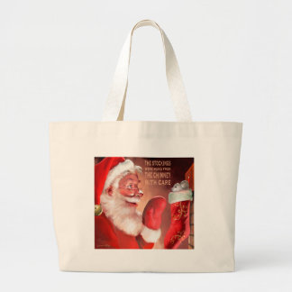 The Stockings Were Hung by the c Large Tote Bag