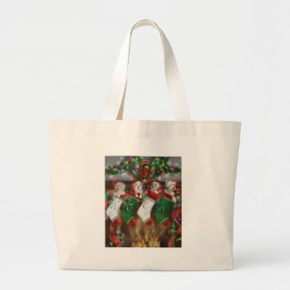 The Stockings Were Hung Large Tote Bag