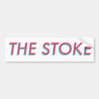"""The Stoke"" 3-D bumper sticker"