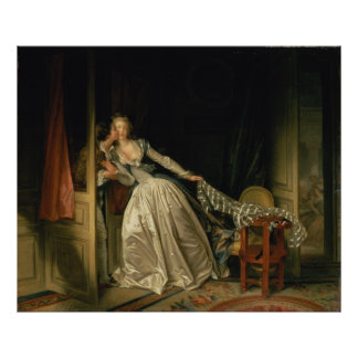 The Stolen Kiss by Fragonard, Large Poster