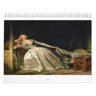 The Stolen Kiss by Jean-Honoré Fragonard Calendar