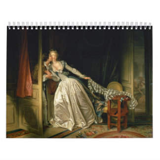 The Stolen Kiss by Jean-Honoré Fragonard Calendar